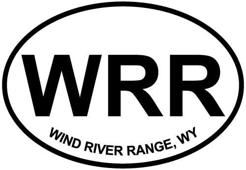 Wind River Range, WY decal from Oval Envy.  Great price for a durable vinyl decal.  We've got animals, beaches, dogs, cats and more!  Search our catalog for your next Euro Oval Decal.