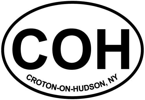 Croton-On-Hudson, NY decal from Oval Envy.  Great price for a durable vinyl decal.  We've got animals, beaches, dogs, cats and more!  Search our catalog for your next Euro Oval Decal.