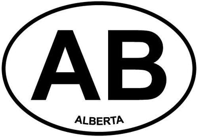Alberta decal from Oval Envy.  Great price for a durable vinyl decal.  We've got animals, beaches, dogs, cats and more!  Search our catalog for your next Euro Oval Decal.