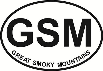Great Smoky Mountains decal from Oval Envy.  Great price for a durable vinyl decal.  We've got animals, beaches, dogs, cats and more!  Search our catalog for your next Euro Oval Decal.