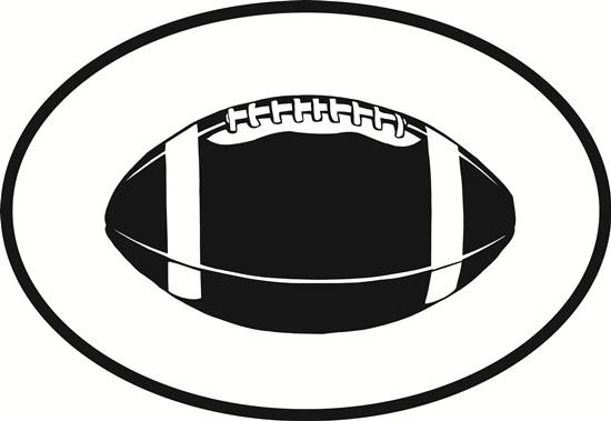 Football decal from Oval Envy.  Great price for a durable vinyl decal.  We've got animals, beaches, dogs, cats and more!  Search our catalog for your next Euro Oval Decal.