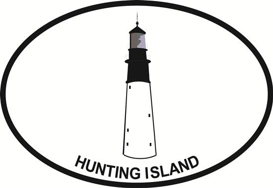 Hunting Island Light decal from Oval Envy.  Great price for a durable vinyl decal.  We've got animals, beaches, dogs, cats and more!  Search our catalog for your next Euro Oval Decal.