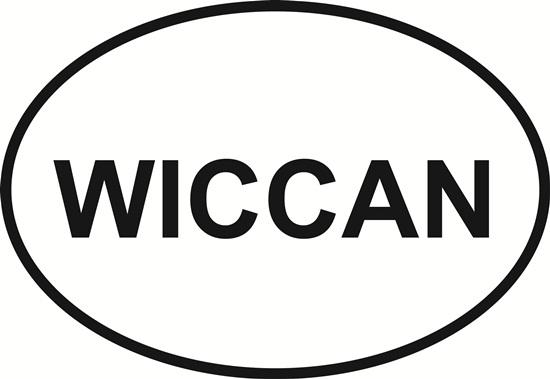 Wiccan decal from Oval Envy.  Great price for a durable vinyl decal.  We've got animals, beaches, dogs, cats and more!  Search our catalog for your next Euro Oval Decal.