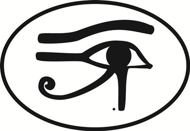Eye of Horus decal from Oval Envy.  Great price for a durable vinyl decal.  We've got animals, beaches, dogs, cats and more!  Search our catalog for your next Euro Oval Decal.