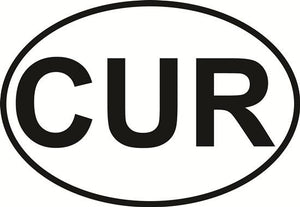Curacao decal from Oval Envy.  Great price for a durable vinyl decal.  We've got animals, beaches, dogs, cats and more!  Search our catalog for your next Euro Oval Decal.