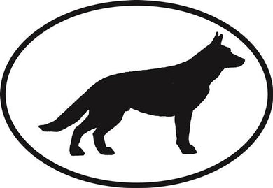 German Shepherd decal from Oval Envy.  Great price for a durable vinyl decal.  We've got animals, beaches, dogs, cats and more!  Search our catalog for your next Euro Oval Decal.