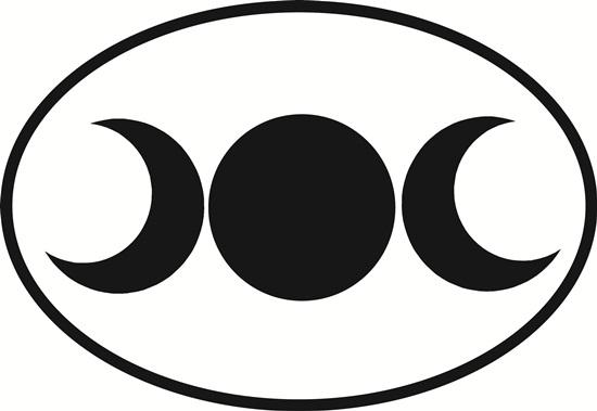 Triple Goddess decal from Oval Envy.  Great price for a durable vinyl decal.  We've got animals, beaches, dogs, cats and more!  Search our catalog for your next Euro Oval Decal.