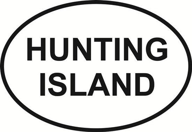 Hunting Island decal from Oval Envy.  Great price for a durable vinyl decal.  We've got animals, beaches, dogs, cats and more!  Search our catalog for your next Euro Oval Decal.