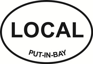 Put-In-Bay - Local decal from Oval Envy.  Great price for a durable vinyl decal.  We've got animals, beaches, dogs, cats and more!  Search our catalog for your next Euro Oval Decal.