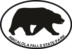 Amicalola Falls decal from Oval Envy.  Great price for a durable vinyl decal.  We've got animals, beaches, dogs, cats and more!  Search our catalog for your next Euro Oval Decal.