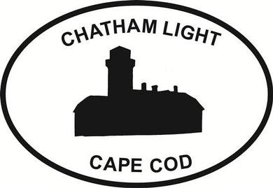 Chatham Lighthouse decal from Oval Envy.  Great price for a durable vinyl decal.  We've got animals, beaches, dogs, cats and more!  Search our catalog for your next Euro Oval Decal.