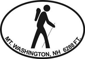 Mt. Washington decal from Oval Envy.  Great price for a durable vinyl decal.  We've got animals, beaches, dogs, cats and more!  Search our catalog for your next Euro Oval Decal.