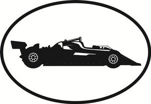 Auto Racing 1 decal from Oval Envy.  Great price for a durable vinyl decal.  We've got animals, beaches, dogs, cats and more!  Search our catalog for your next Euro Oval Decal.
