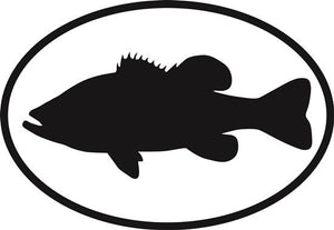 Largemouth Bass decal from Oval Envy.  Great price for a durable vinyl decal.  We've got animals, beaches, dogs, cats and more!  Search our catalog for your next Euro Oval Decal.