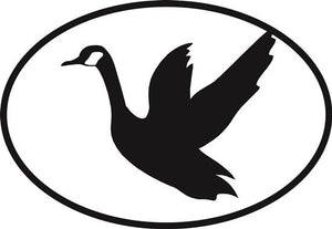 Flying Goose decal from Oval Envy.  Great price for a durable vinyl decal.  We've got animals, beaches, dogs, cats and more!  Search our catalog for your next Euro Oval Decal.