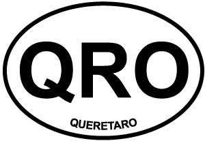 Queretaro decal from Oval Envy.  Great price for a durable vinyl decal.  We've got animals, beaches, dogs, cats and more!  Search our catalog for your next Euro Oval Decal.