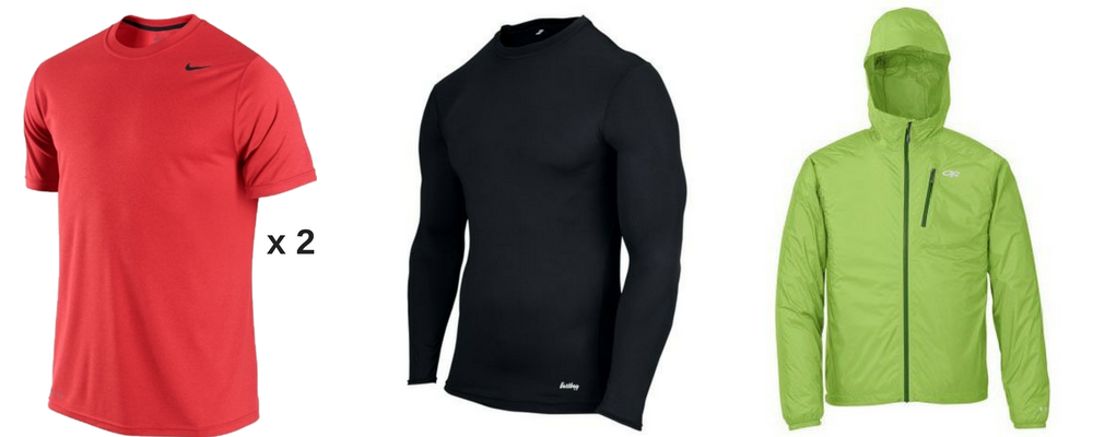 01c66c4bc86 I would generally wear each shirt for 2 or 3 days of hiking until the next  trail town. My clean and dry long sleeve shirt ...