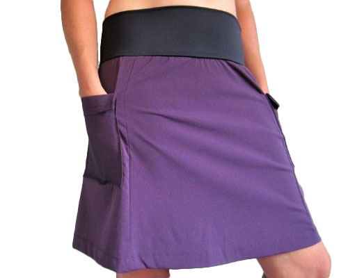 purple rain adventure hiking skirt