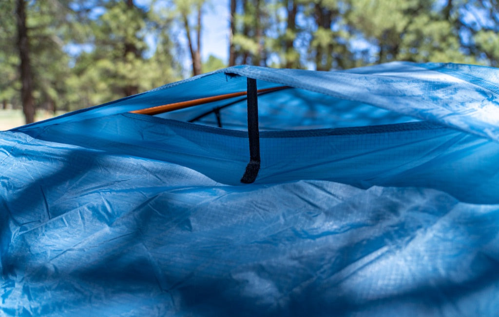 Ventilation system on 3-person tent