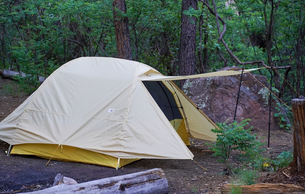 Vestibule of a 3-person tent (sideview)