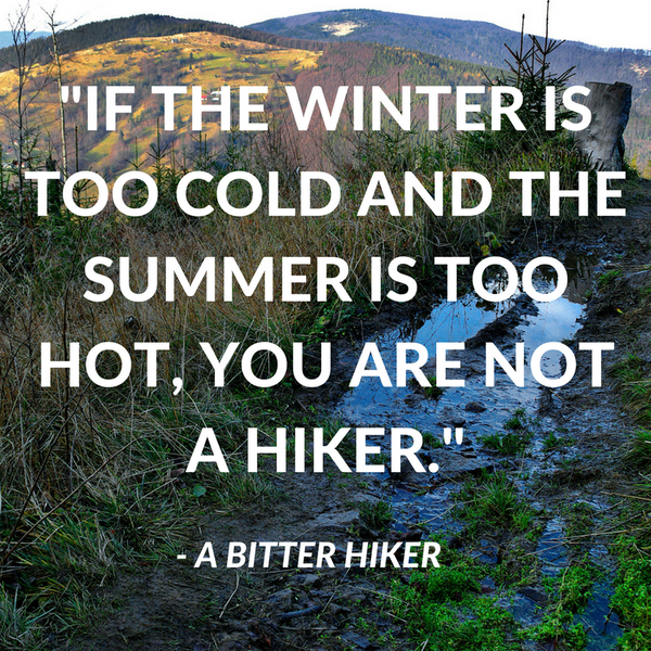 Funny Quote Hiking