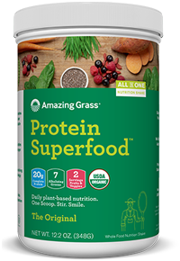 Amazing Grass Organic Plant-Based Vegan Protein Superfood Meal Replacement Powder