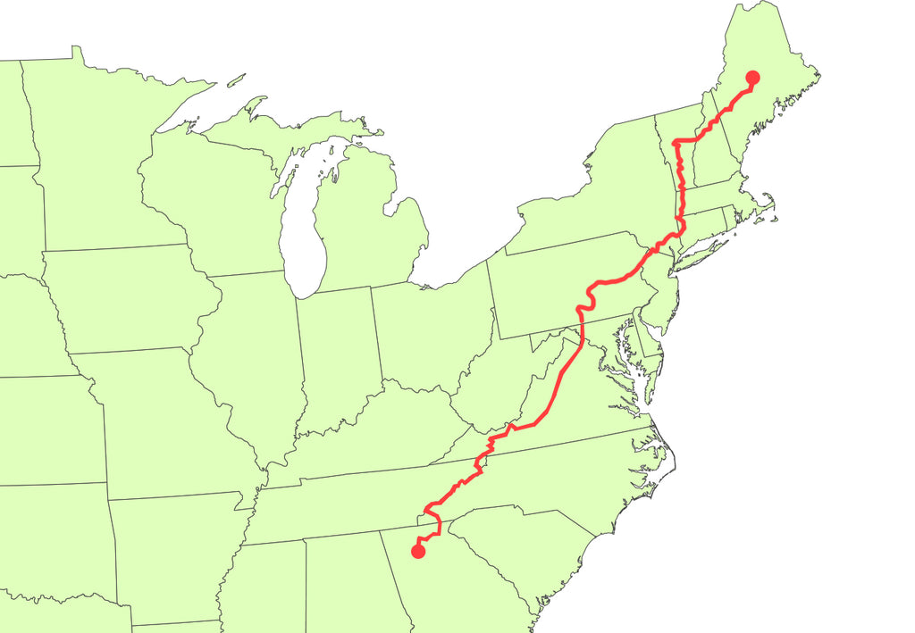 Appalachian Trail Map Interactive Zoom StateByState - Appalachian trail new hampshire map