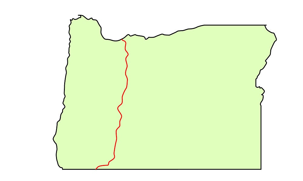 Oregon map Pacific Trail Crest