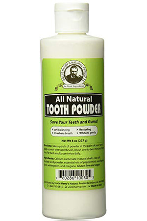 Uncle Harry's Natural Tooth Powder - best tooth powder, tooth powder vs toothpaste, does tooth powder really work