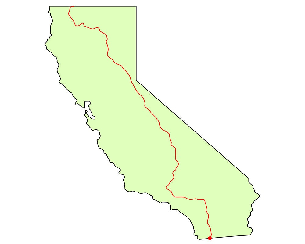 California map Pacific Crest Trail