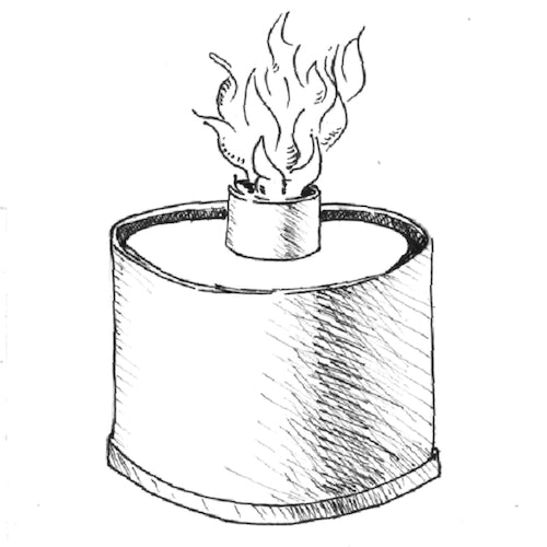 alcohol stove vertical flame diy soda can design drawing