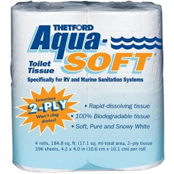 aquasoft biodegradable toilet paper