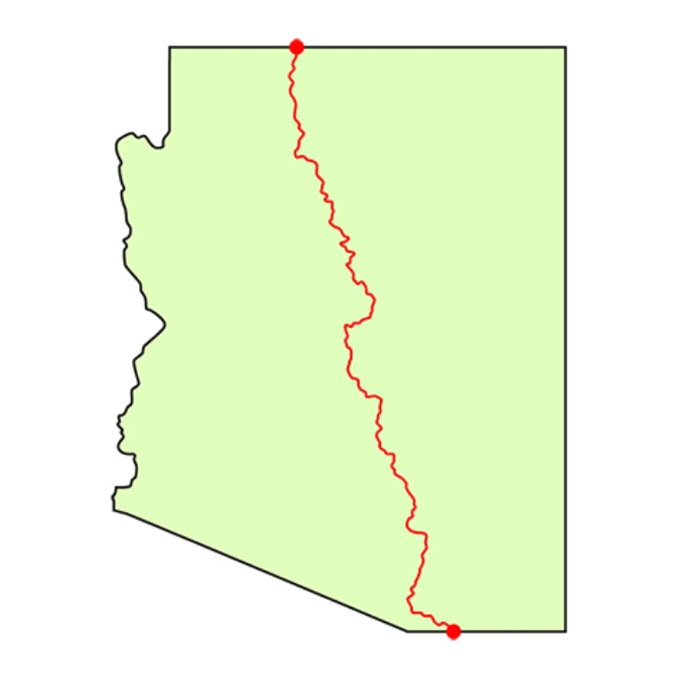 arizona national scenic trail map