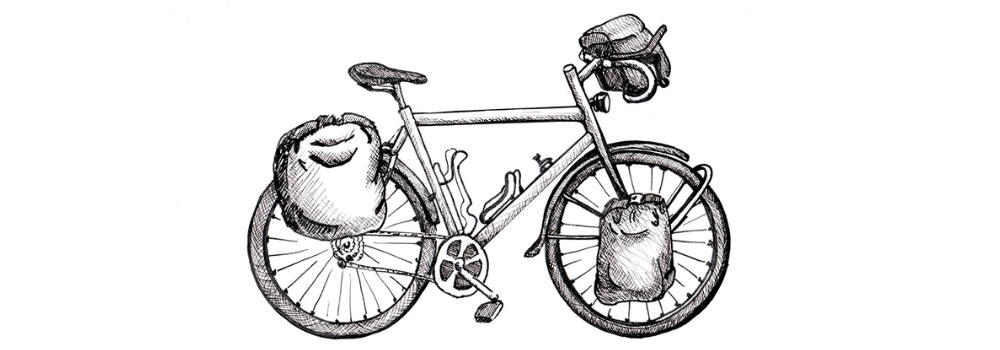 bicycle touring bike drawing
