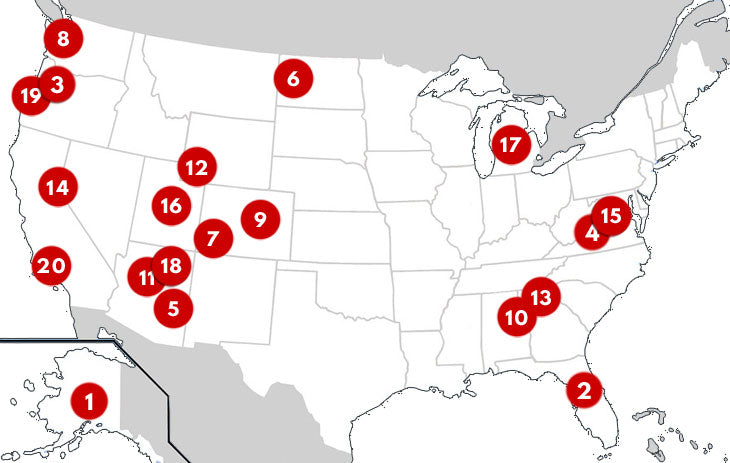 map of bikepacking routes in usa