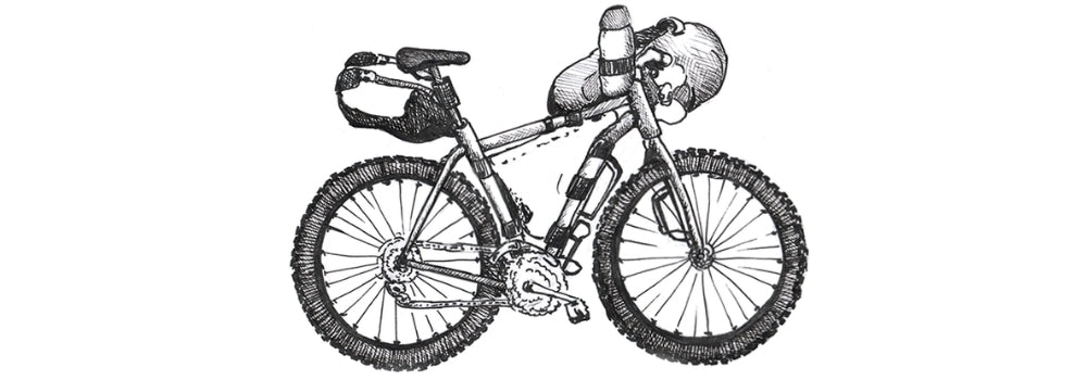 bikepacking bicycle drawing
