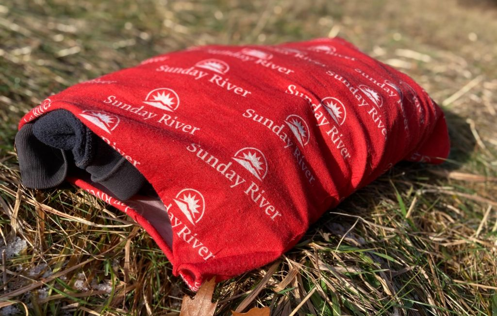 diy backpacking pillow with buff