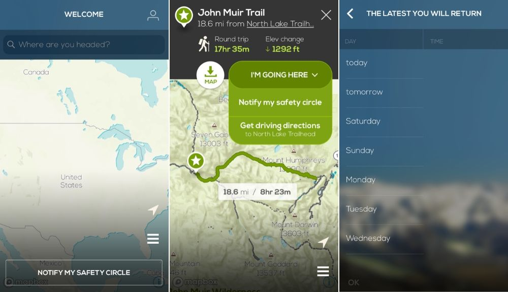 hiking app cairn