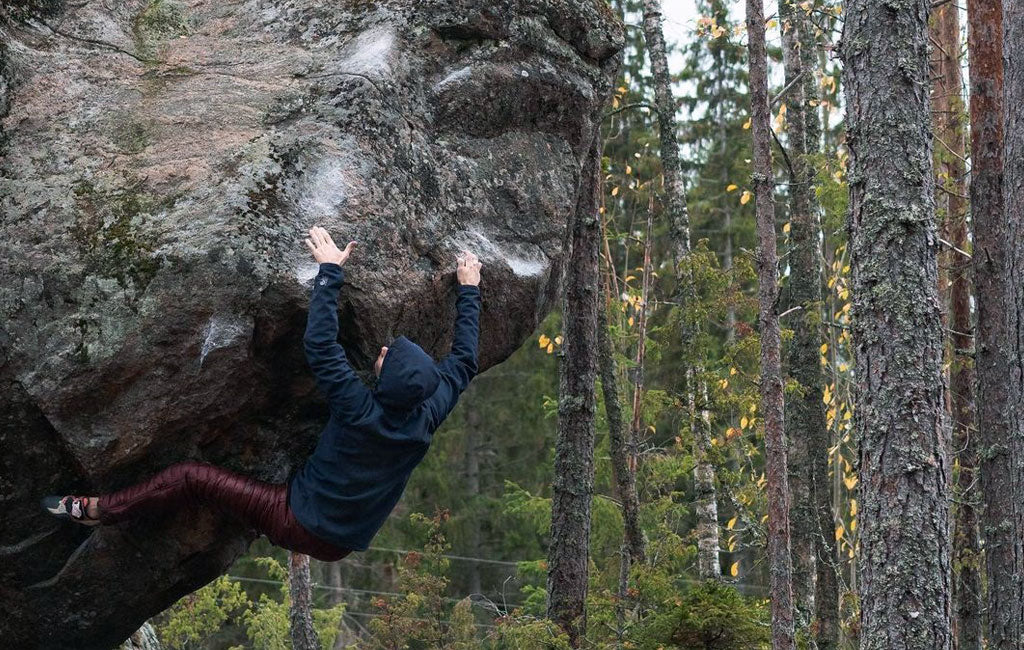 Down pants for climbing