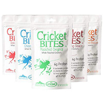 whole roasted flavor crickets