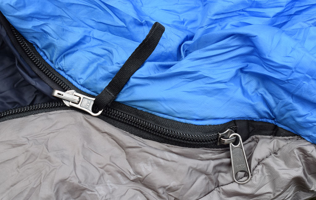 sleeping bag zippers