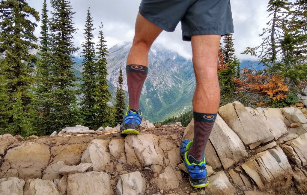 hiker wearing best hiking socks
