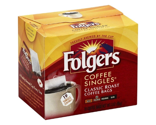 folgers instant coffee singles
