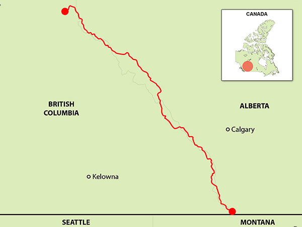 great divide trail map