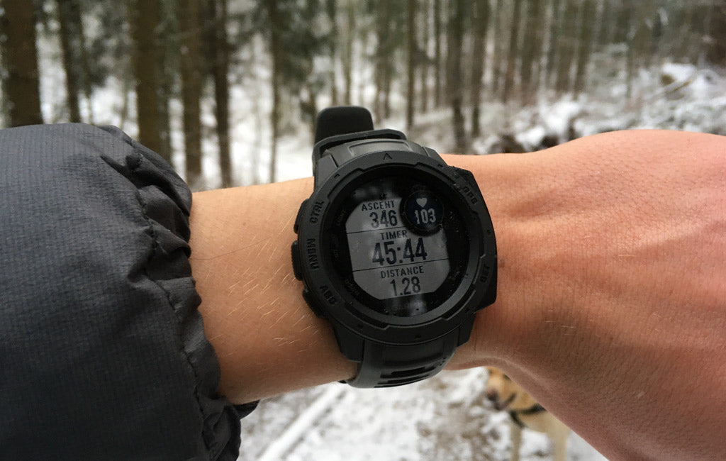 hiking watch tracking hike data