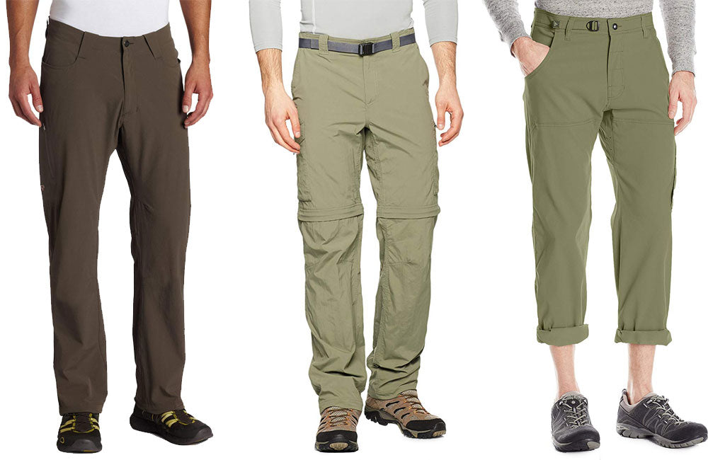 different types of hiking pants