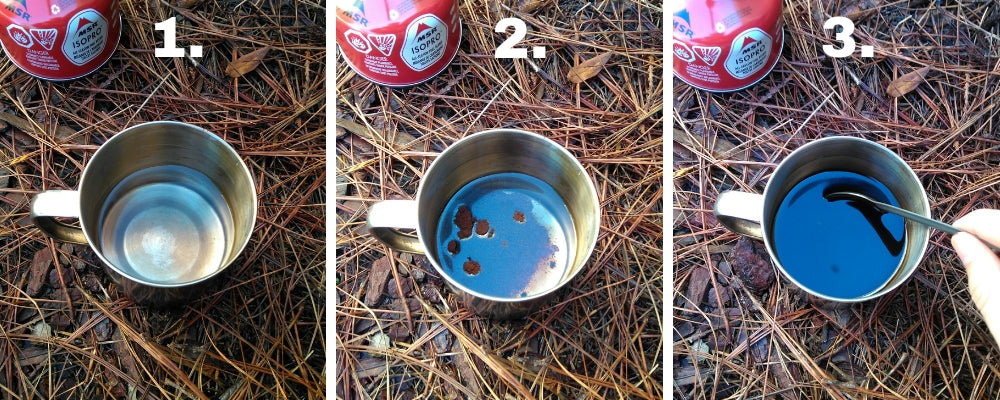 how to make instant coffee backpacking