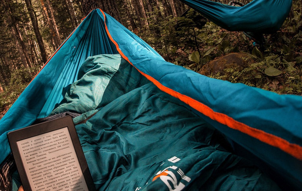hammock camping at night