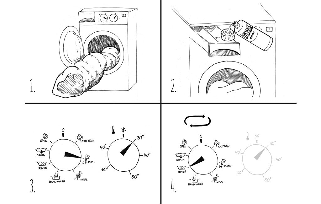 how to wash a sleeping bag machine
