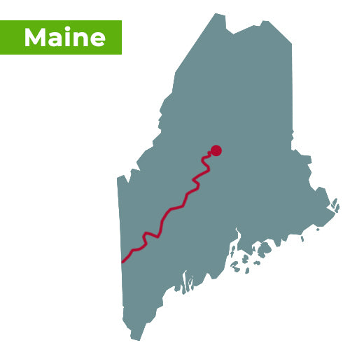 appalachian trail map maine
